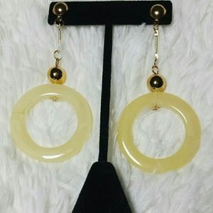 Melody Jewelry - Melody Marble Bead Ring Drop Dangle Earrings